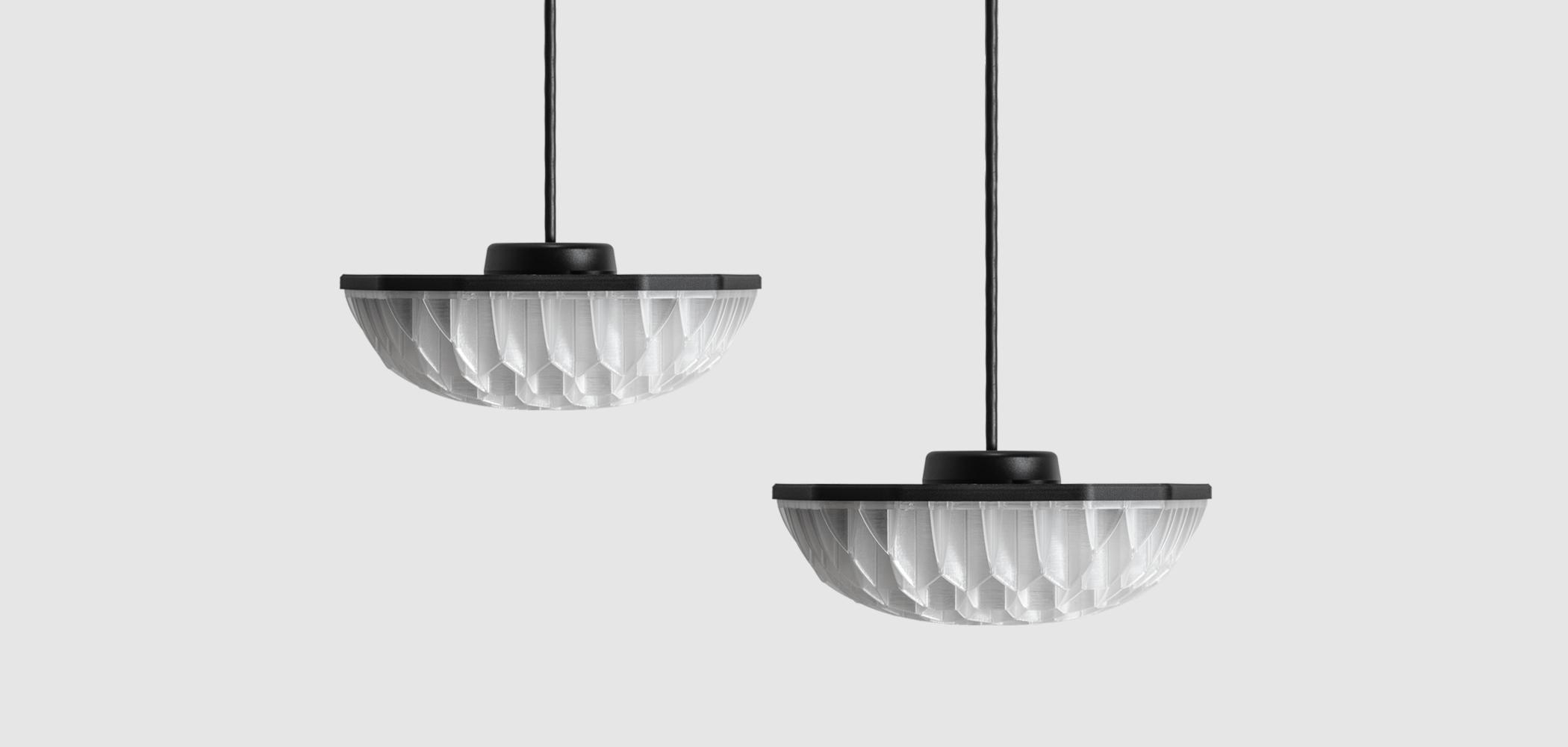 Decimal Agregar LED 3D printed pendant lamp