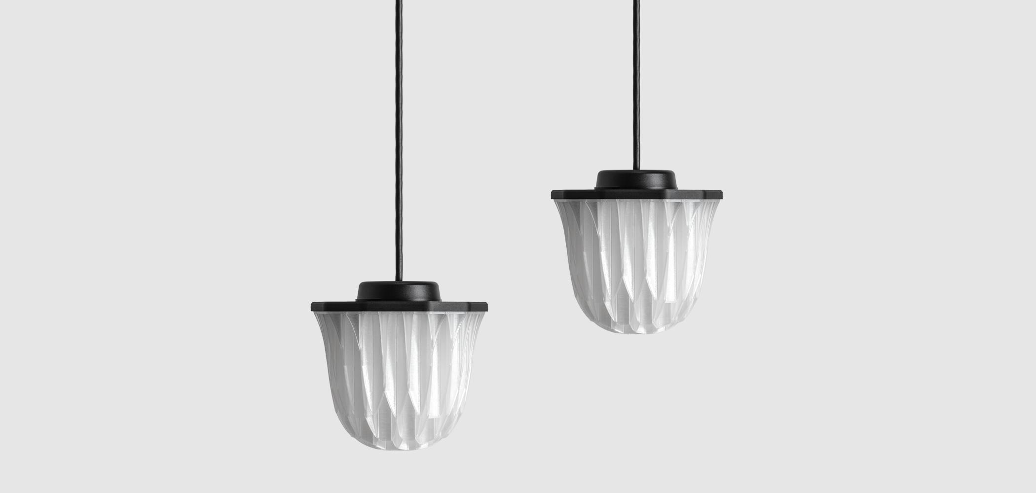 Decimal Agregar 3D printed LED pendant lamp